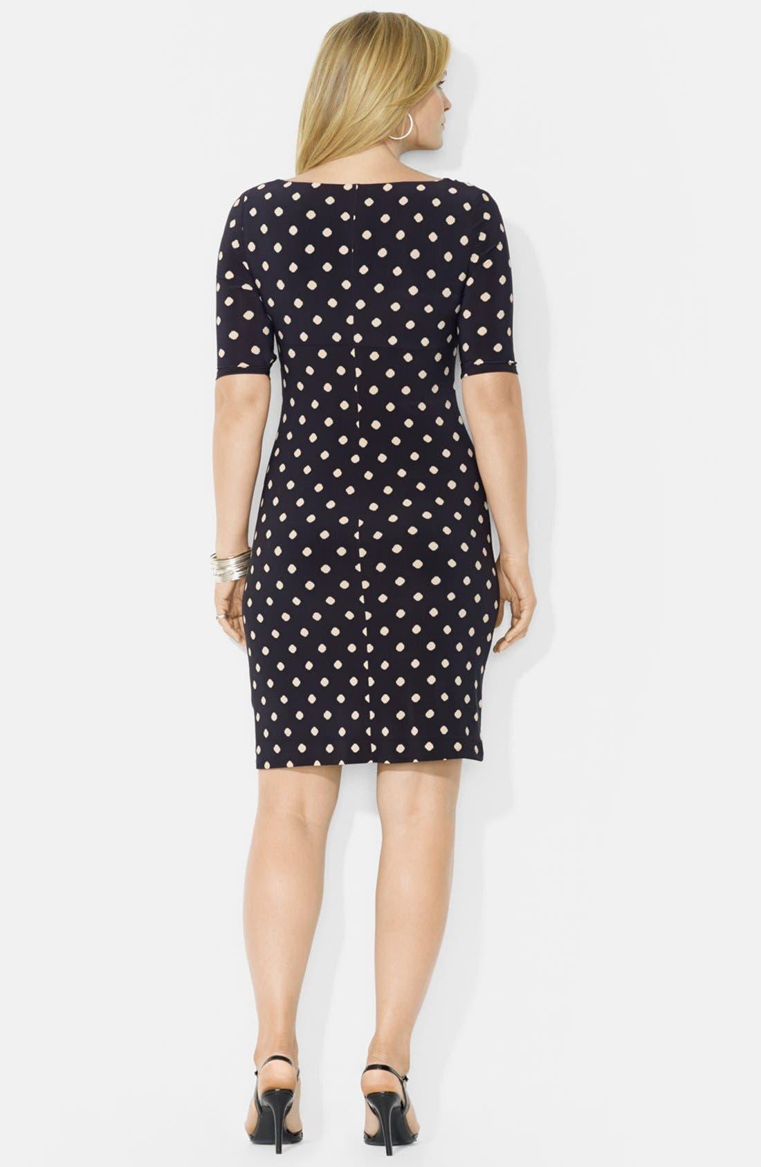 Alternate Image 2  - Lauren by Ralph Lauren Cowl Neck Jersey Dress (Plus Size)