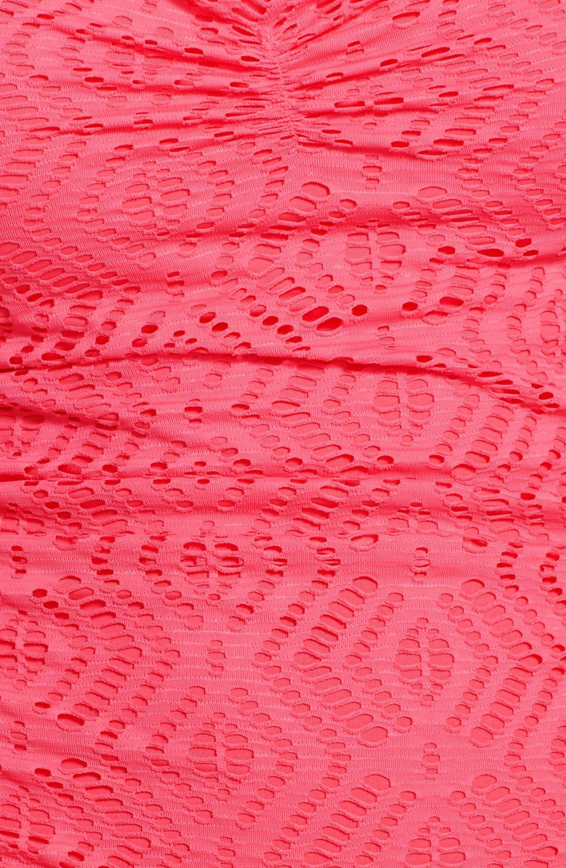 Alternate Image 3  - Becca 'Just a Peak' Crochet Swimdress