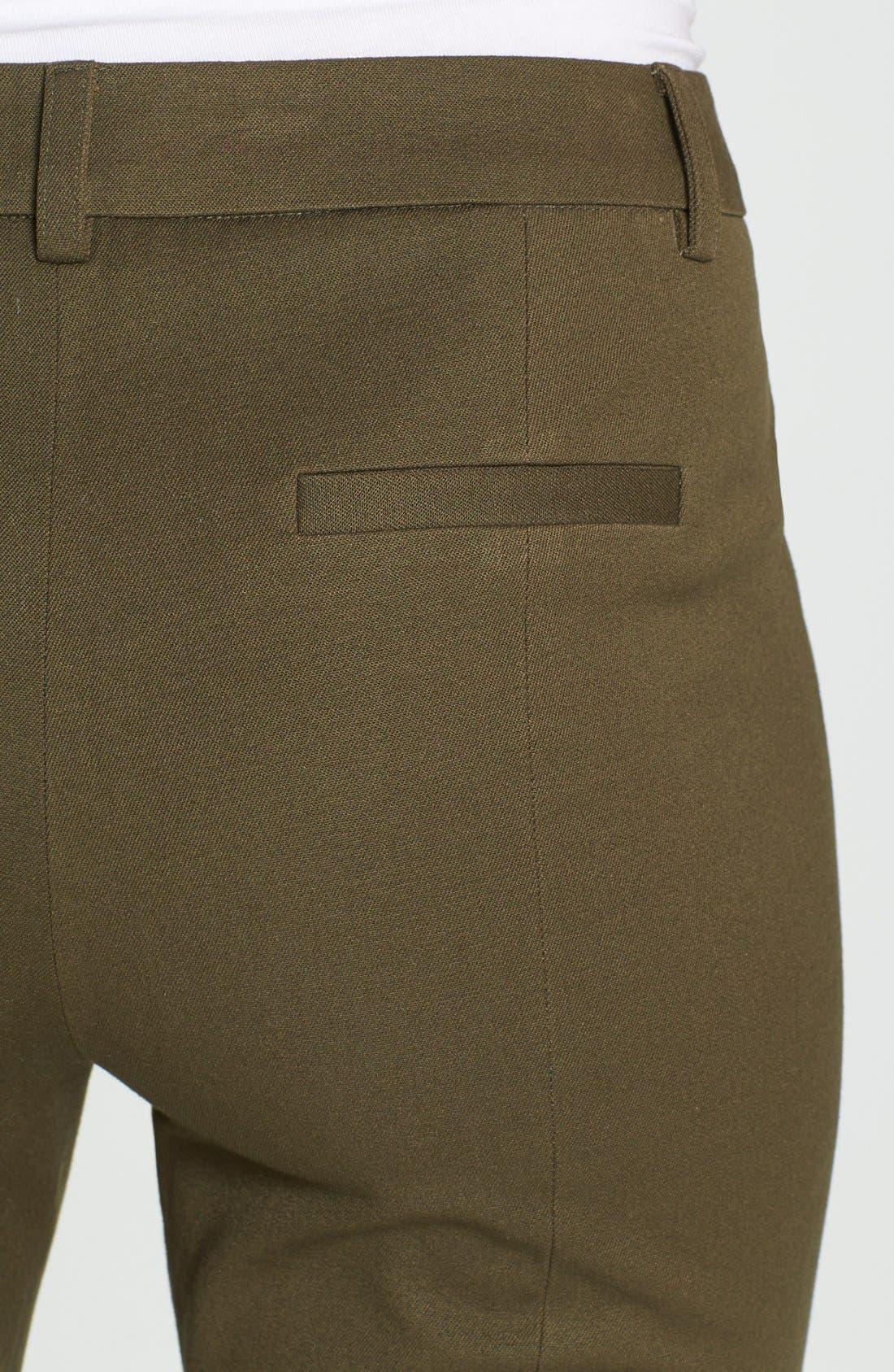Alternate Image 3  - Halogen® Slim Fit Stretch Cotton Pants (Regular & Petite)