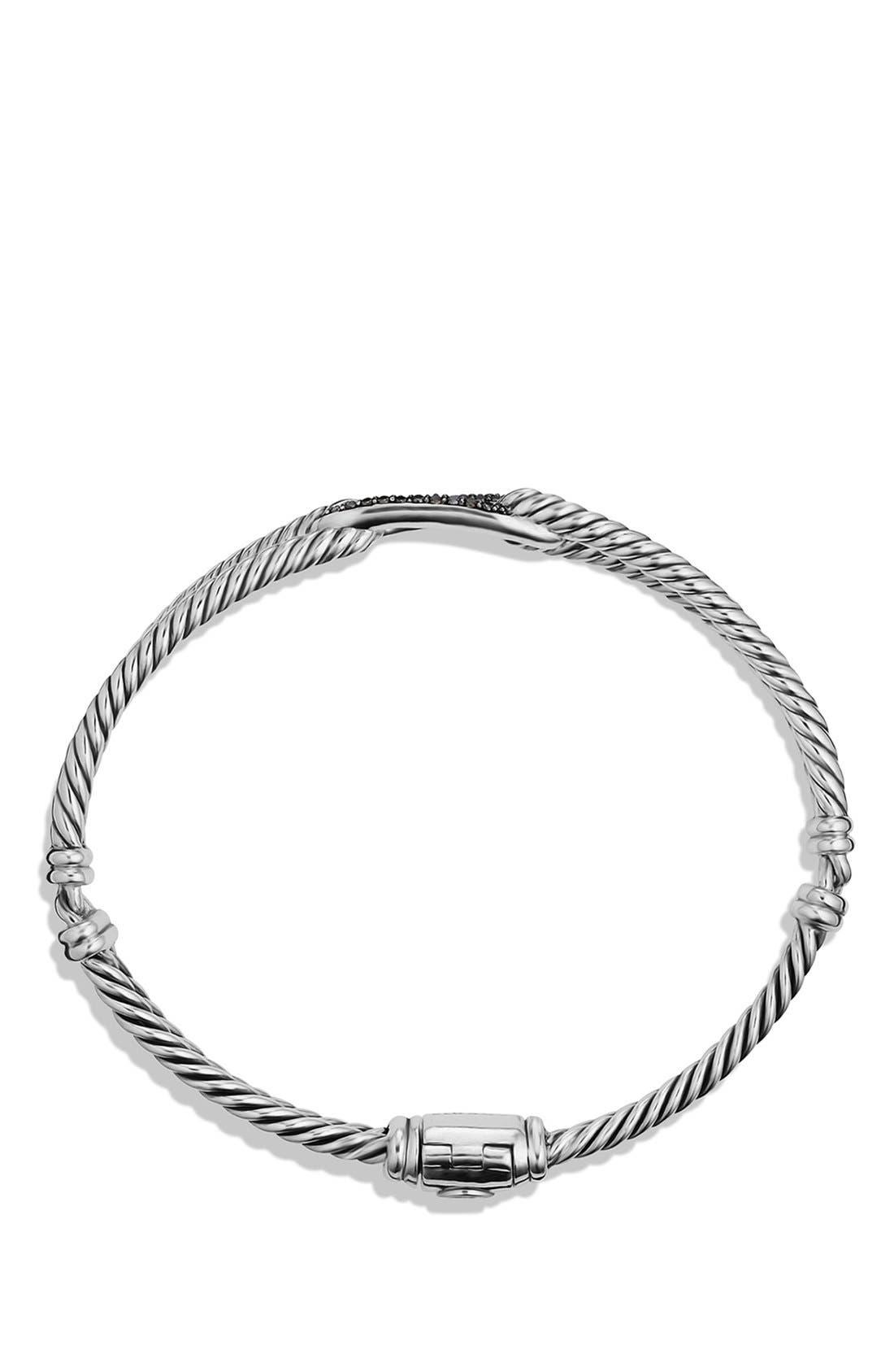 Alternate Image 2  - David Yurman Petite Pavé 'Labyrinth' Mini Single Loop Bracelet with Diamonds in Gold