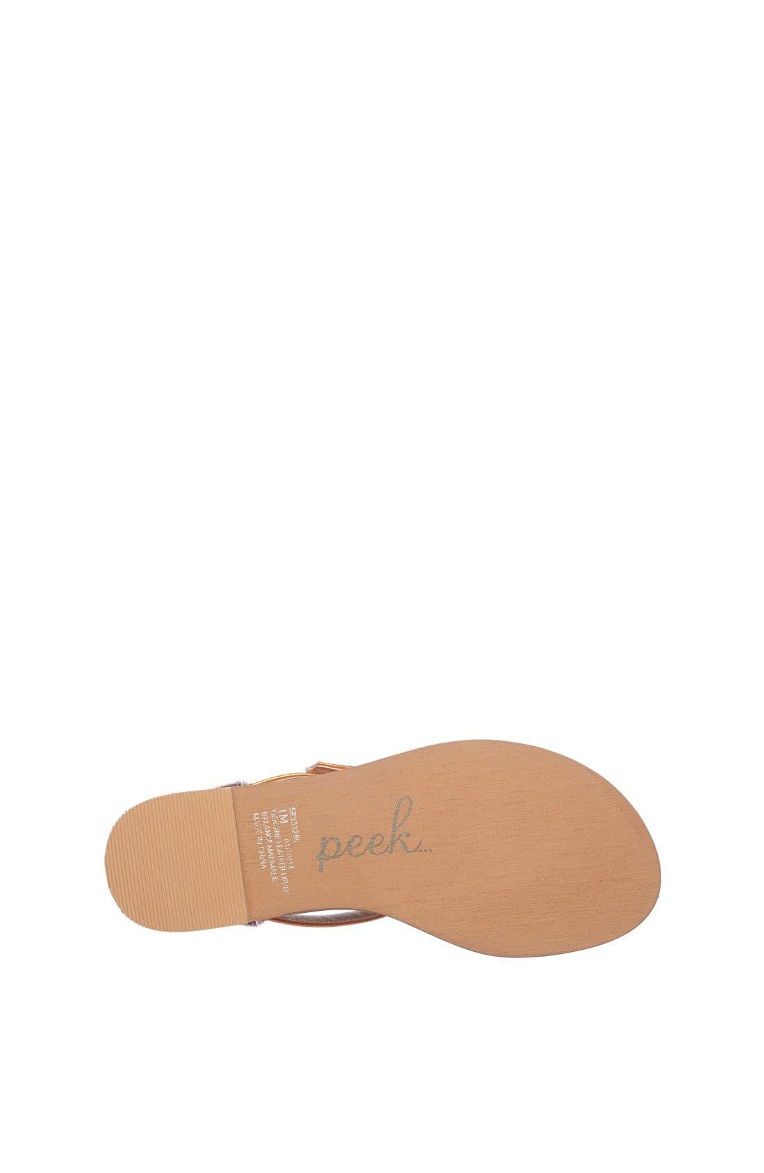 Alternate Image 4  - Peek 'Arabella' Sandal (Toddler, Little Kid & Big Kid)