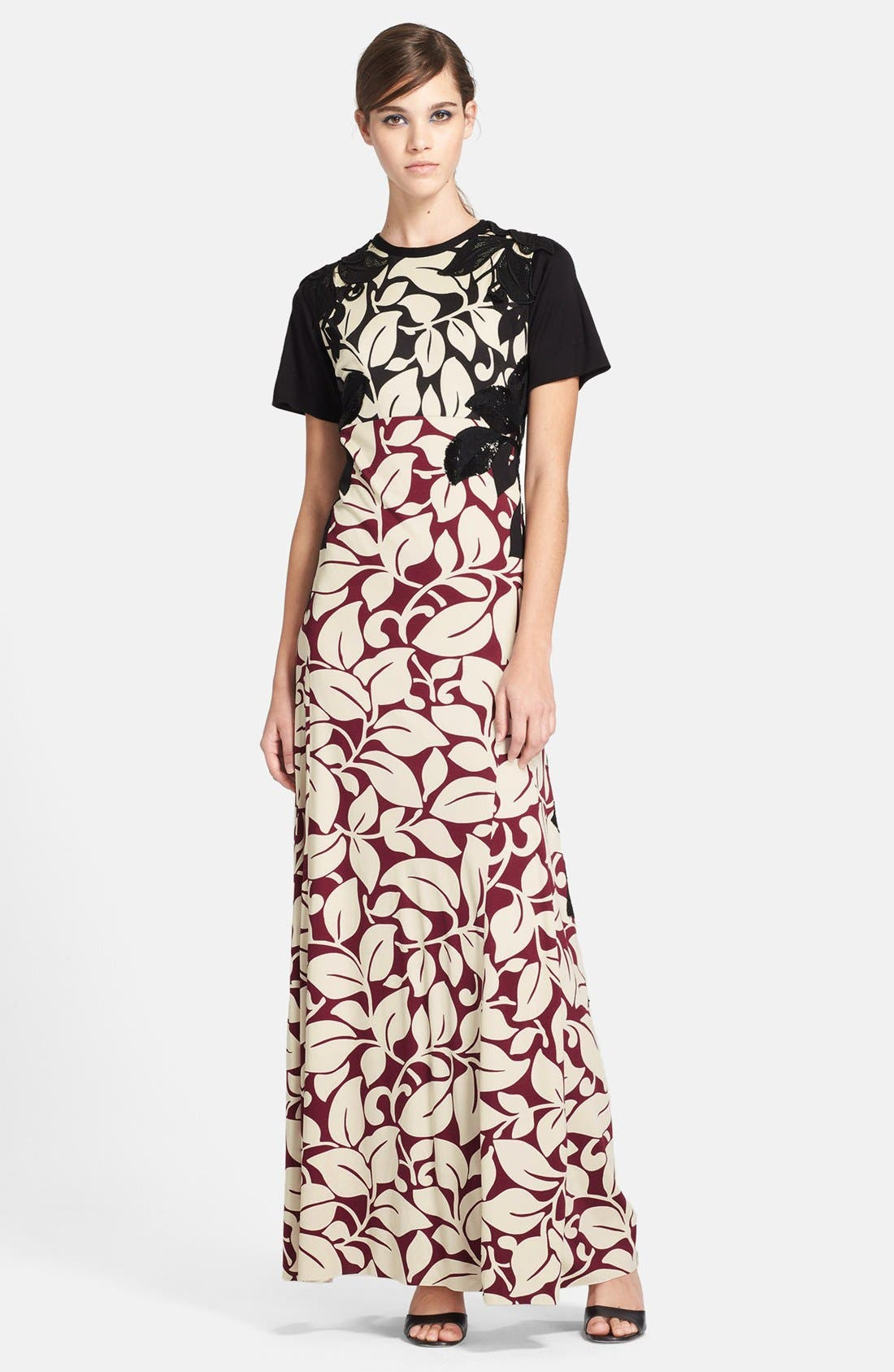 Alternate Image 1 Selected - MARC JACOBS Embellished Print Gown