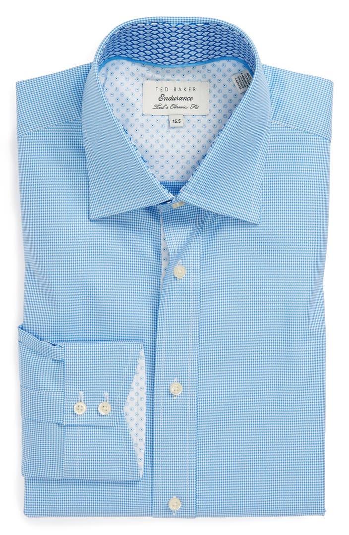 Ted baker london extra trim fit dress shirt nordstrom for Extra trim fit dress shirt