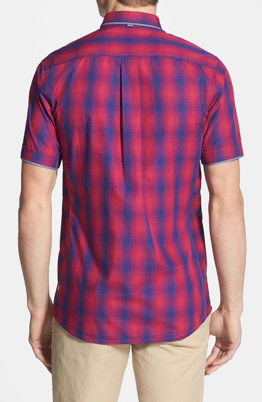 Alternate Image 3  - Descendant of Thieves Ombré Short Sleeve Plaid Shirt