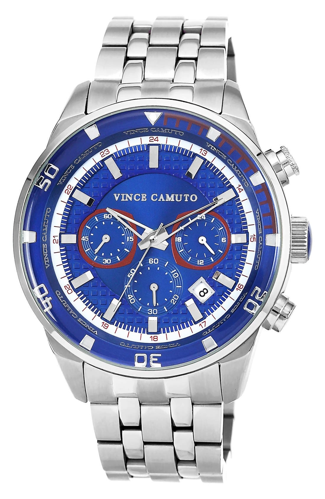 Main Image - Vince Camuto Chronograph Round Bracelet Watch, 45mm