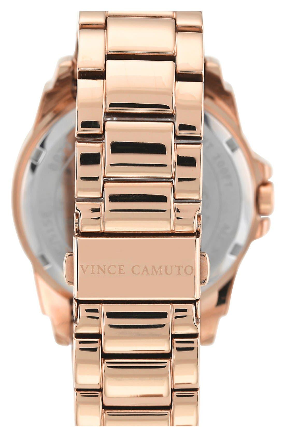 Alternate Image 2  - Vince Camuto Multifunction Round Bracelet Watch, 43mm