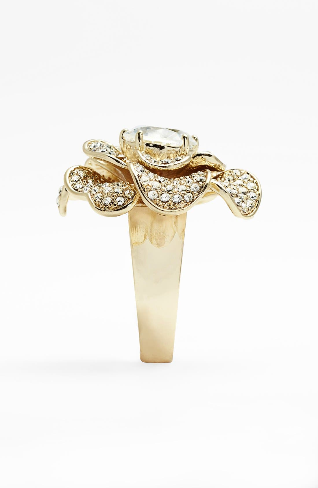Alternate Image 2  - Ariella Collection Pavé Flower Cocktail Ring