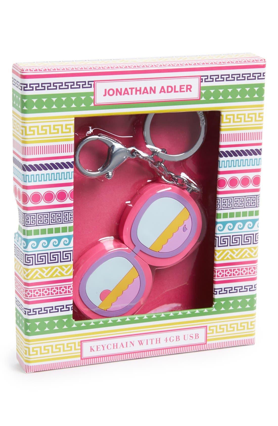 Alternate Image 1 Selected - Jonathan Adler 'Sunglasses' USB Flash Drive Key Chain