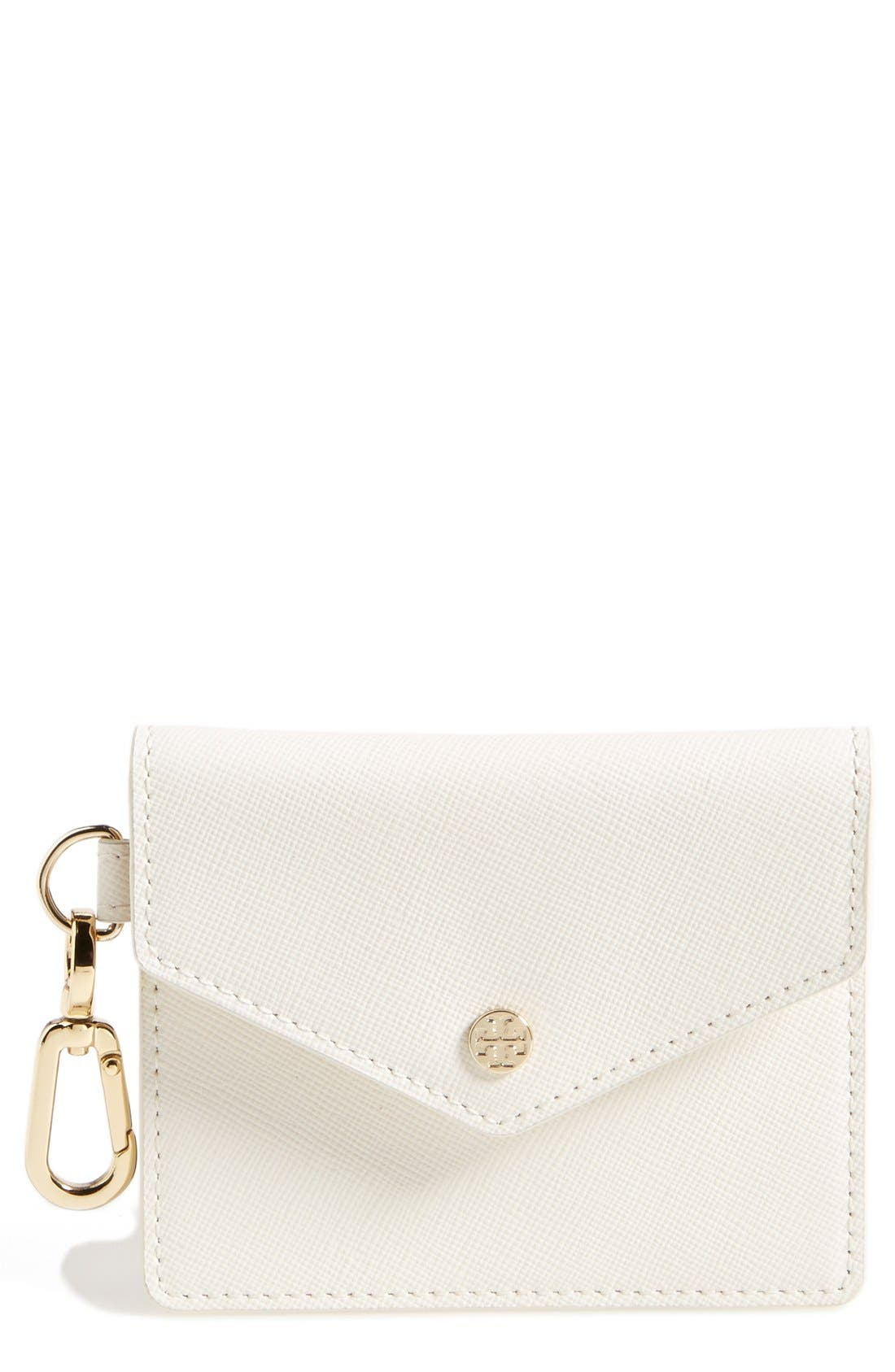 Alternate Image 1 Selected - Tory Burch Saffiano Leather Card Case