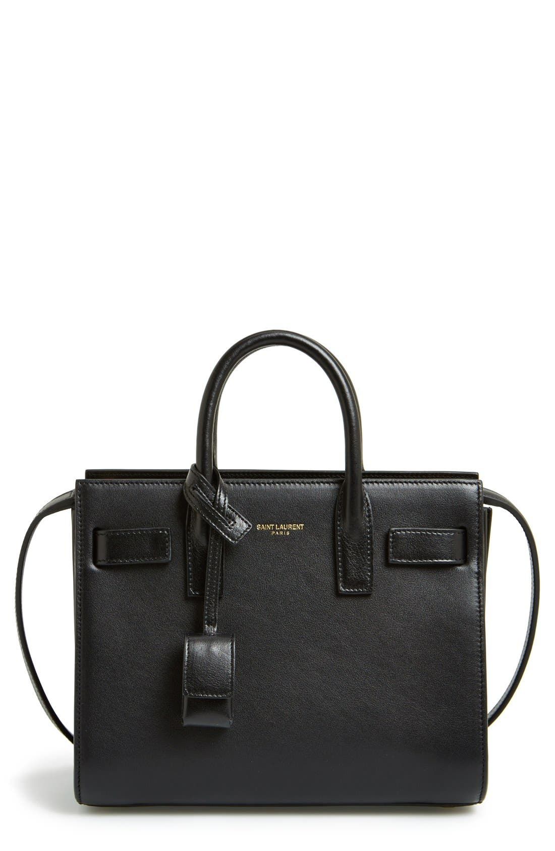 Alternate Image 1 Selected - Saint Laurent 'Micro Sac de Jour' Leather Tote