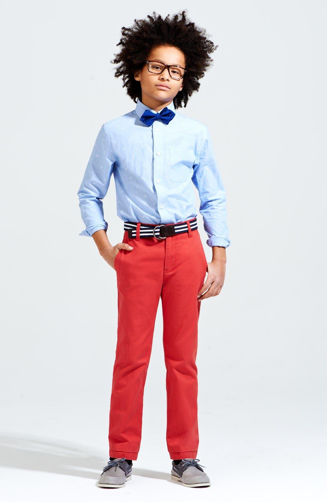 Main Image - Nordstrom Print Shirt & Chinos (Big Boys)