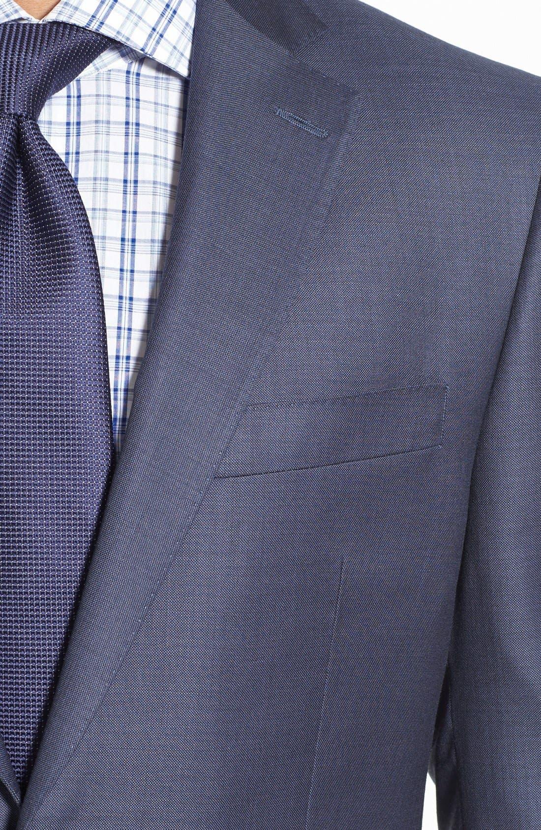 Alternate Image 4  - Peter Millar Classic Fit Wool Suit