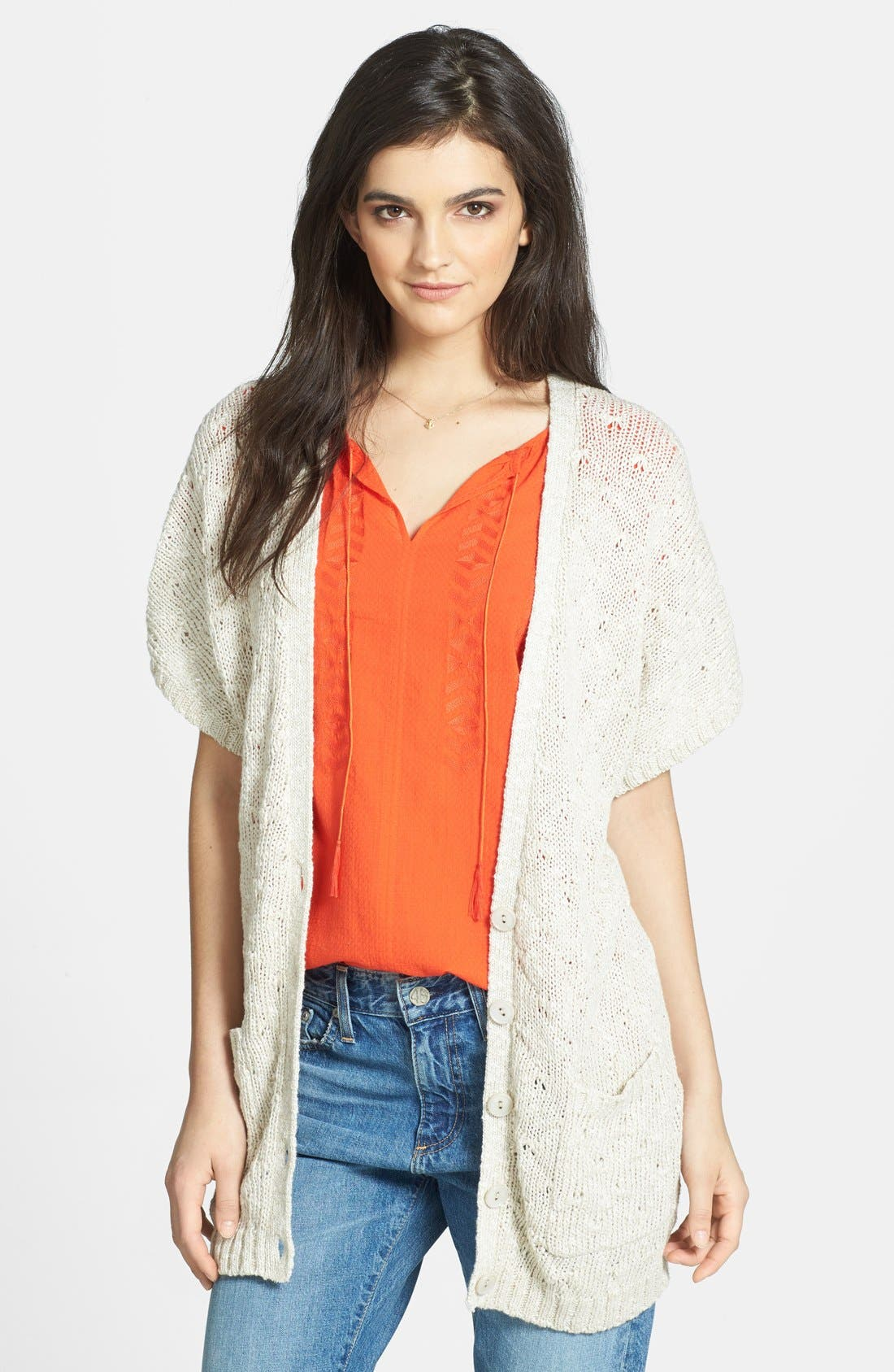 Alternate Image 1 Selected - Hinge® Short Sleeve Cardigan