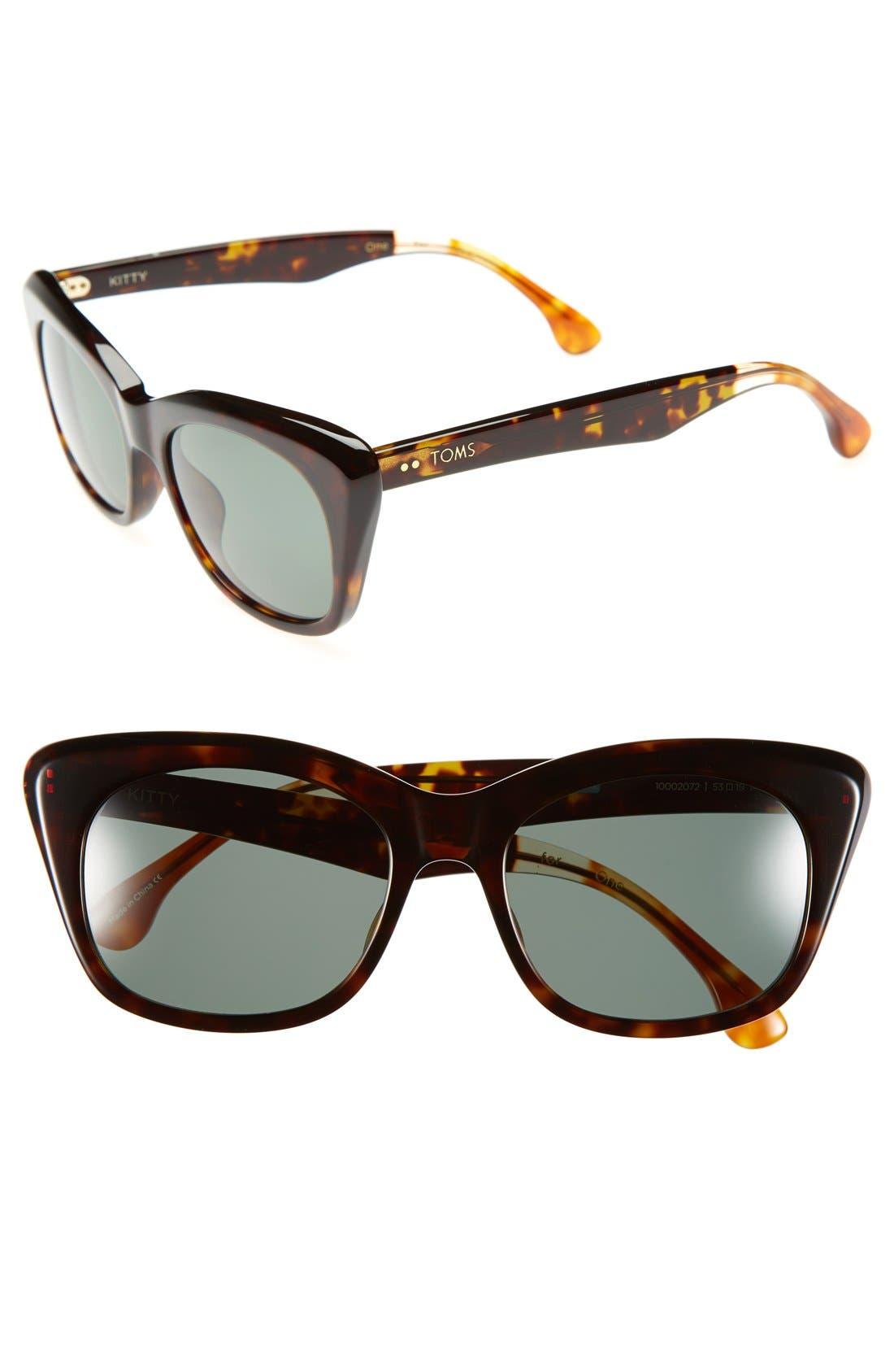 Alternate Image 1 Selected - TOMS 'Kitty' 53mm Polarized Cat Eye Sunglasses