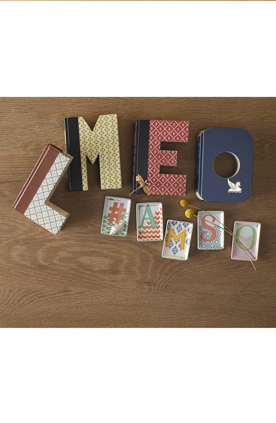 Alternate Image 2  - Rosanna 'Letterpress' Personalized Porcelain Tray