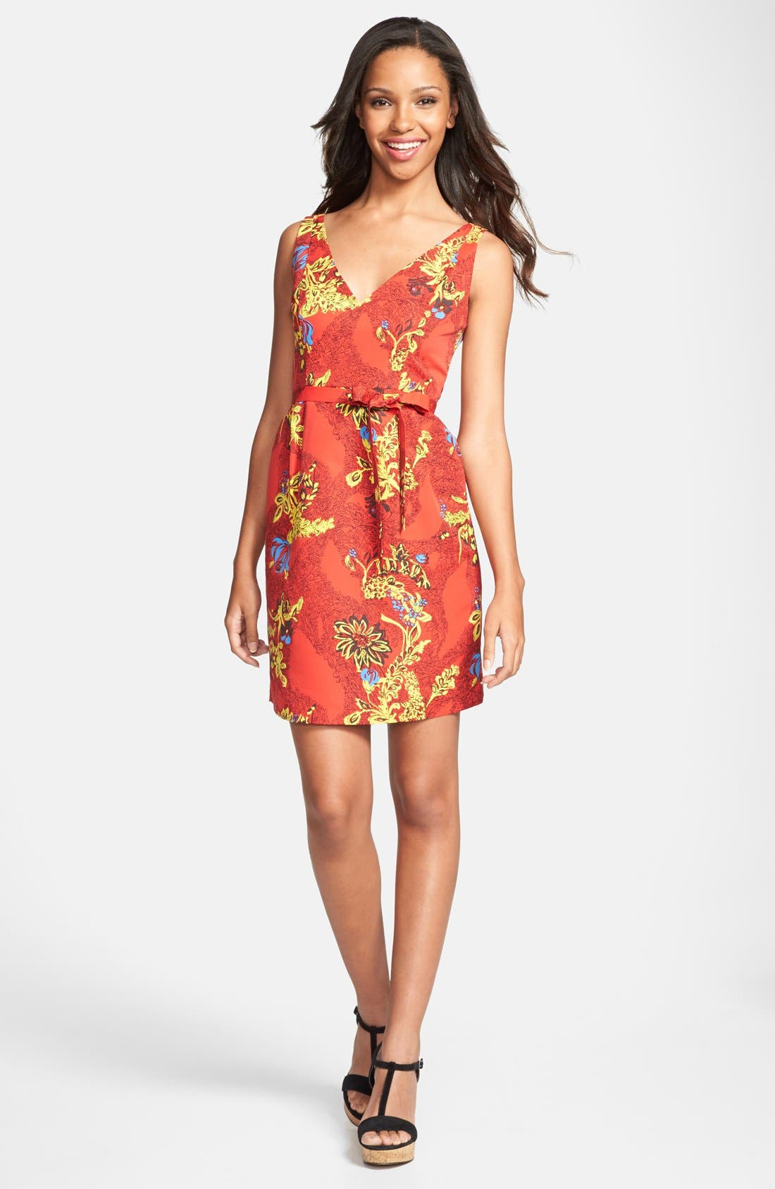 Alternate Image 1 Selected - Plenty by Tracy Reese 'Ashley' V-Neck Print Dress