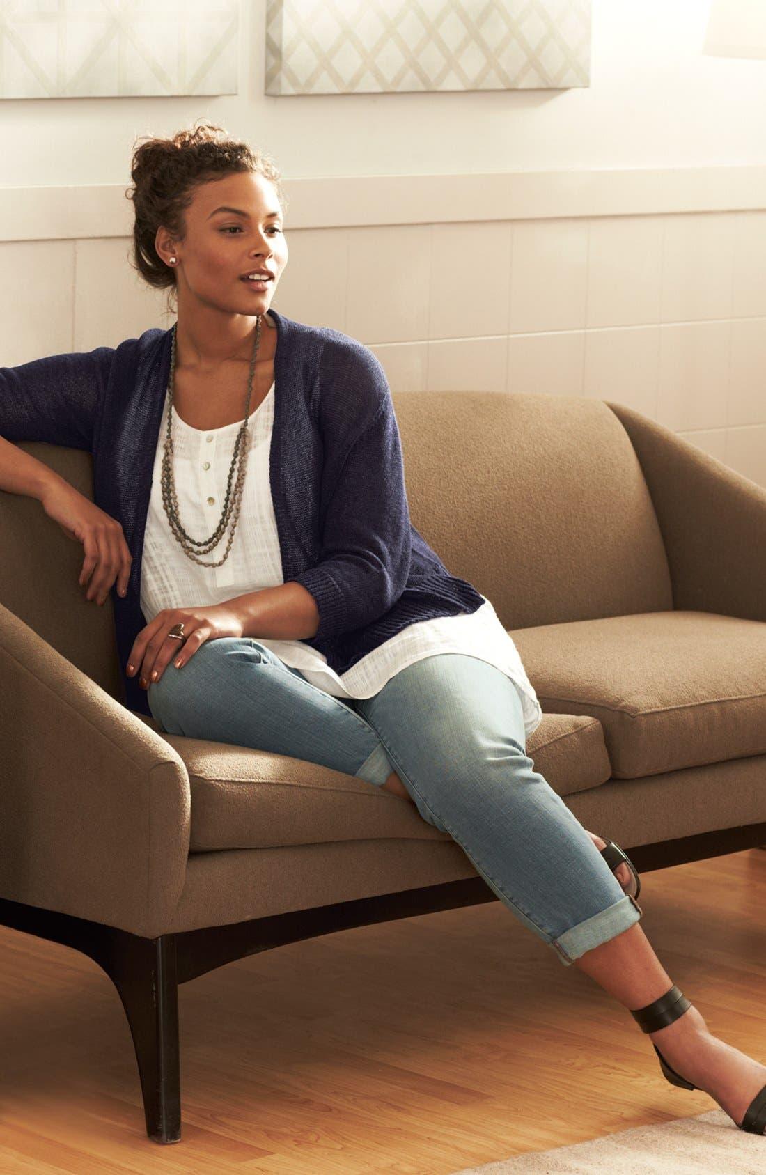 Alternate Image 4  - Eileen Fisher Organic Cotton Boyfriend Jeans (Plus Size)
