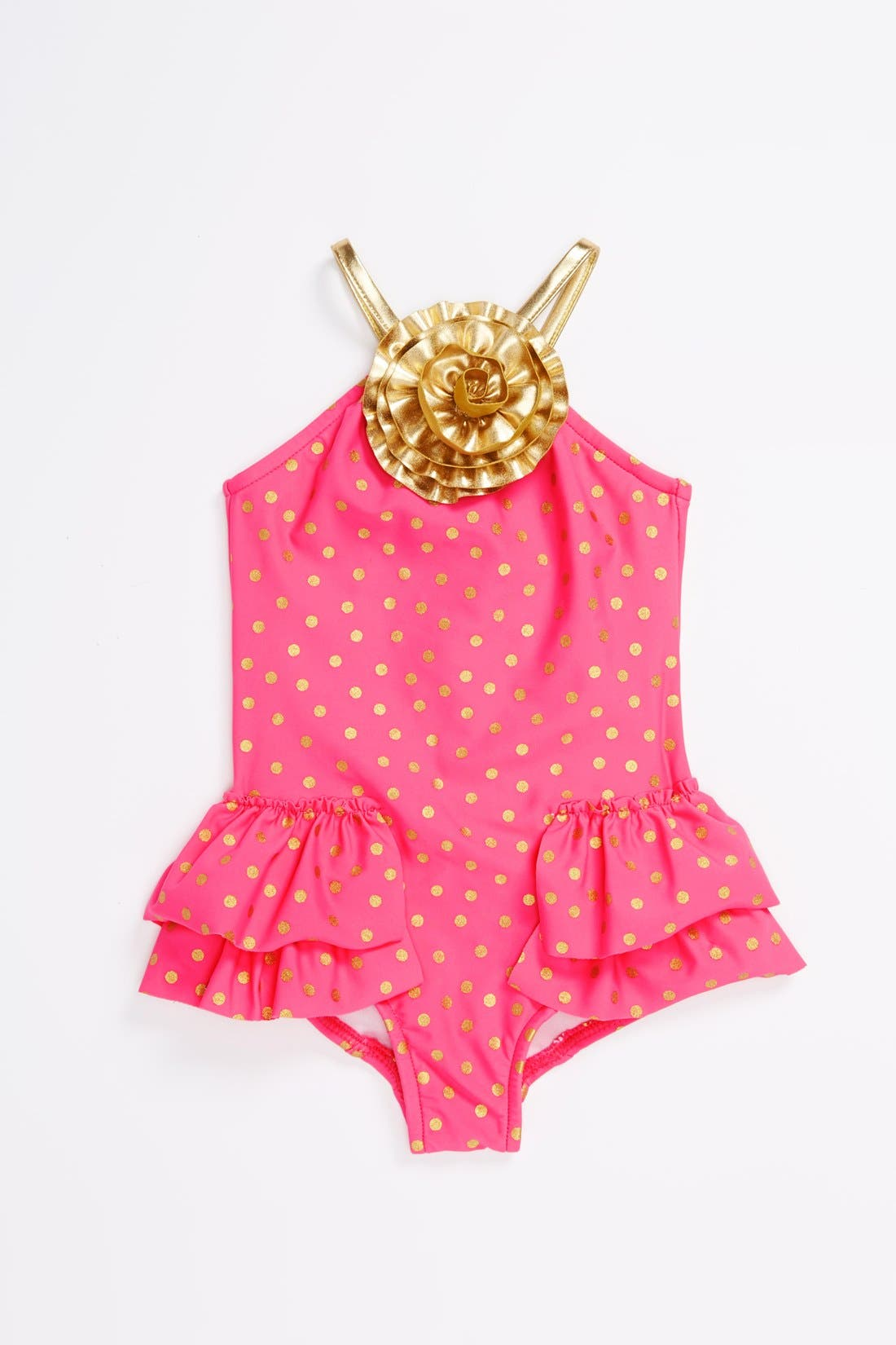 Alternate Image 1 Selected - Love U Lots One-Piece Swimsuit (Toddler Girls)(Online Only)
