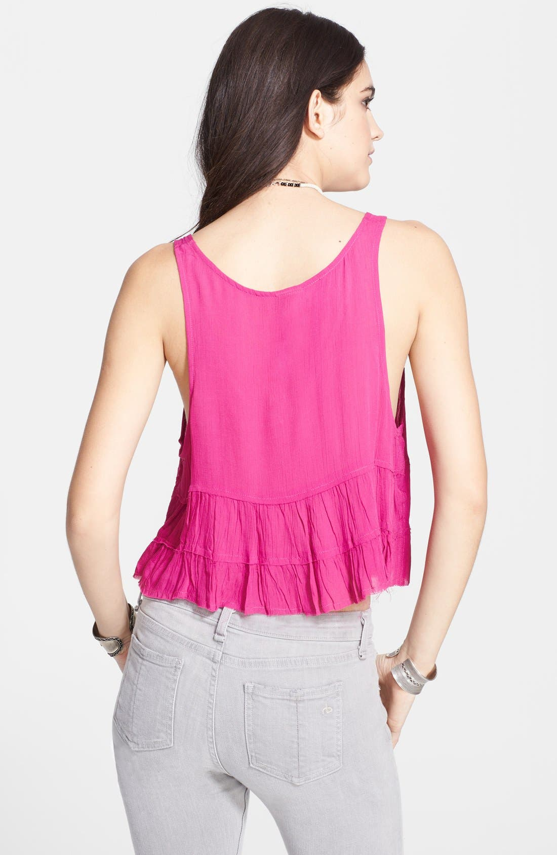 Alternate Image 2  - Free People 'Crinkle Breeze' Ruffled Crop Camisole