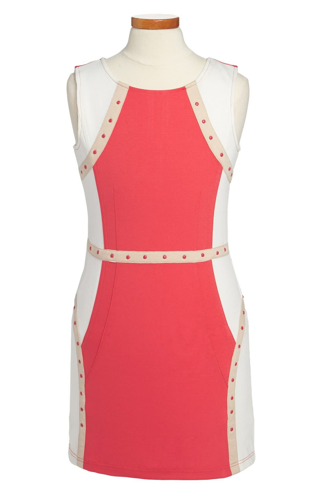 Alternate Image 1 Selected - Laundry by Shelli Segal 'Cindy' Studded Sheath Dress (Big Girls)
