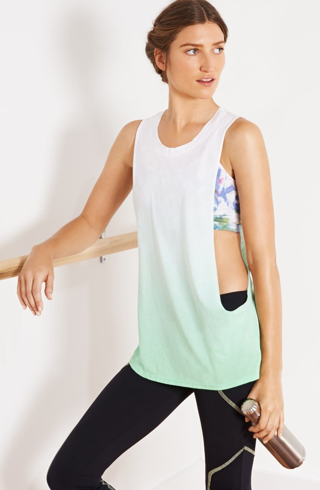 Alternate Image 4  - Solow Tie Dye Racerback Sports Bra