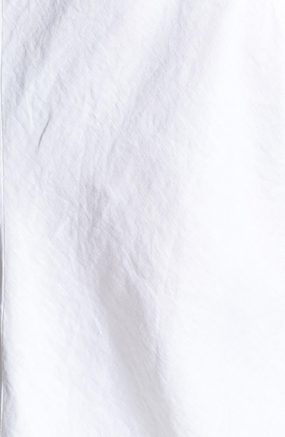 Alternate Image 3  - Eileen Fisher V-Neck Bias Cut Organic Linen Dress (Plus Size)