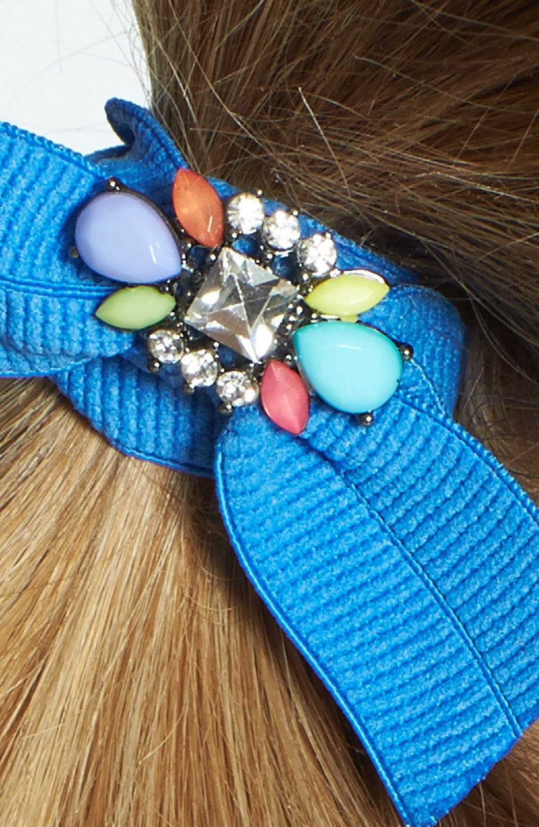 Alternate Image 2  - Cara Jeweled Ponytail Holder