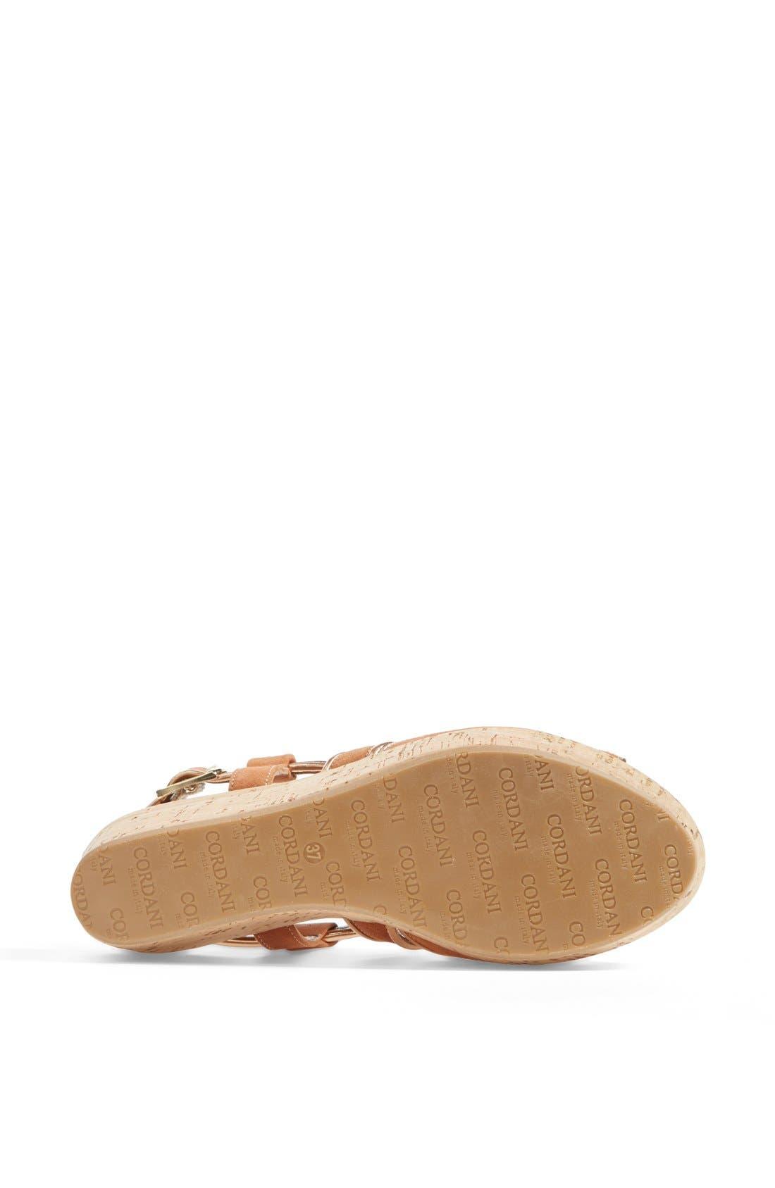 Alternate Image 4  - Cordani 'Denton' Suede Wedge Sandal
