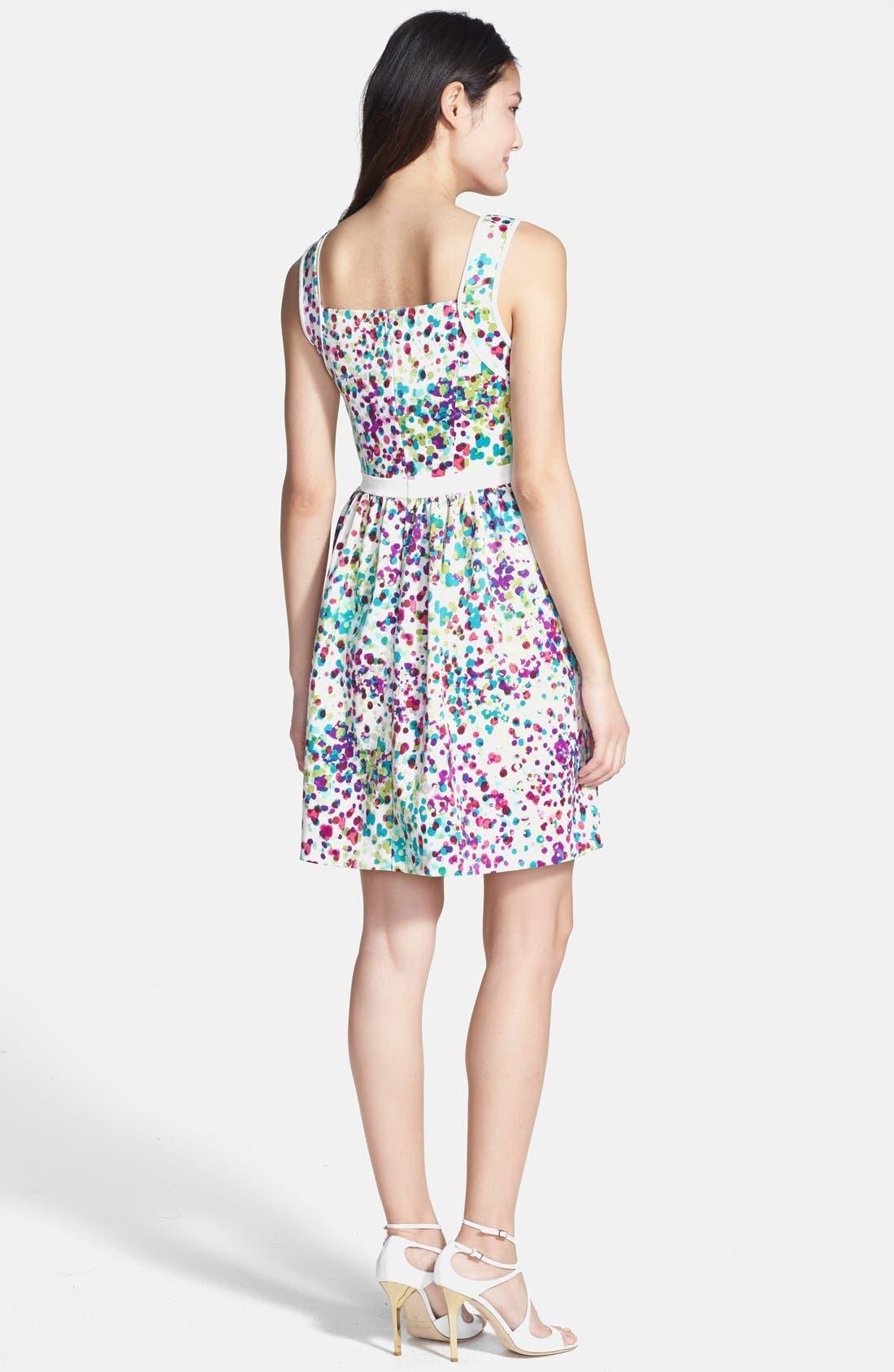 Alternate Image 2  - Ivy & Blu Print Ottoman Knit Fit & Flare Dress