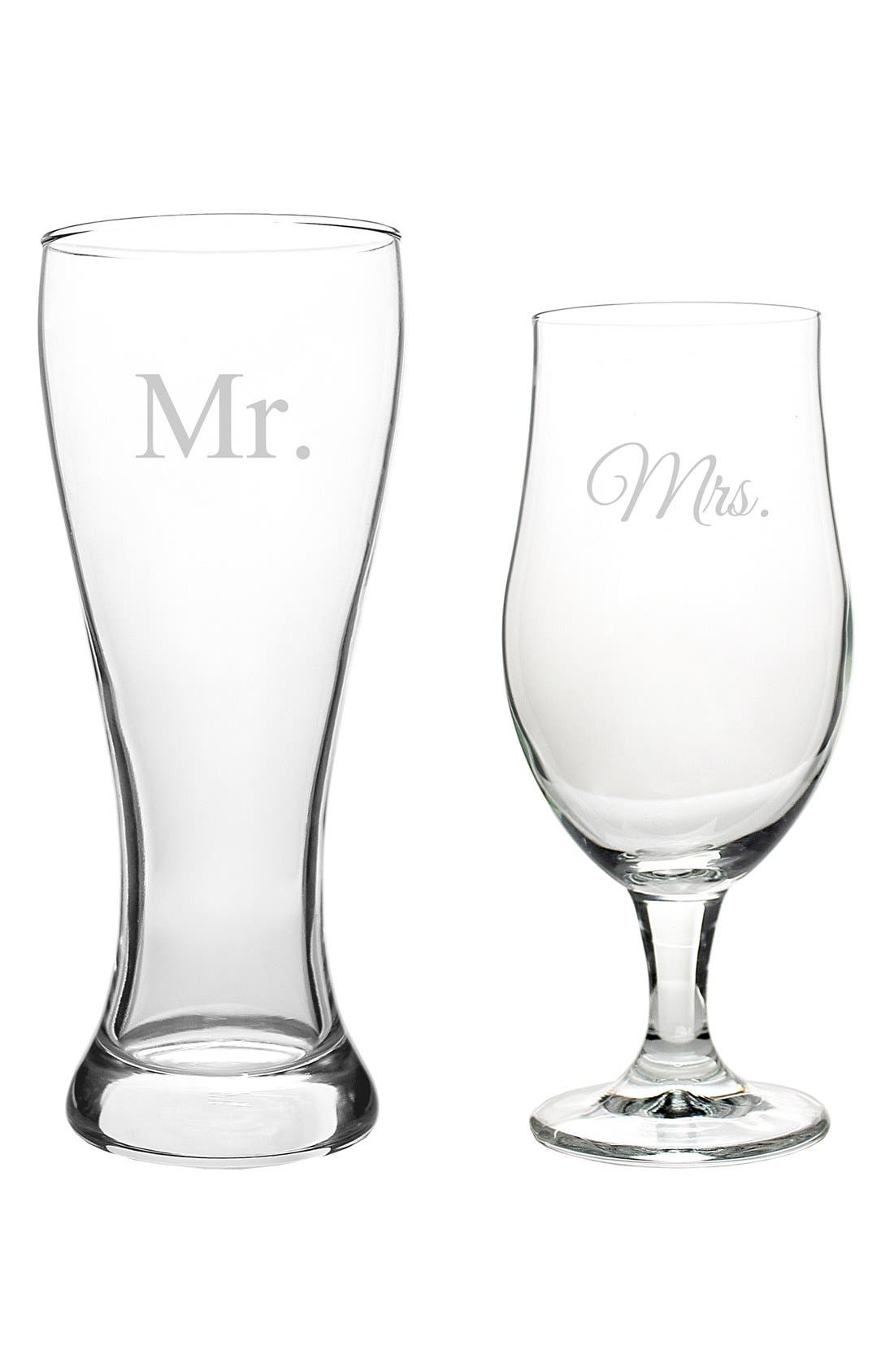 Alternate Image 2  - Cathy's Concepts 'For the Couple' Matching Pilsner Glasses (Set of 2)