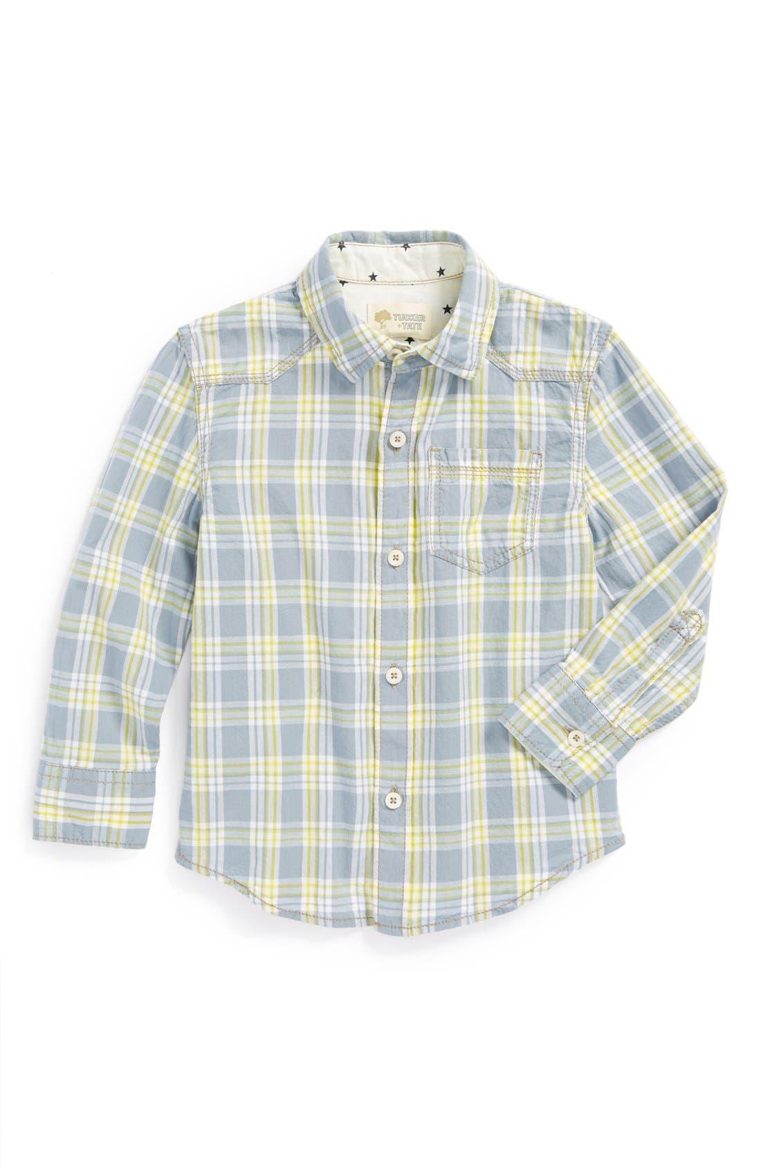 Alternate Image 1 Selected - Tucker + Tate 'Conrad' Plaid Shirt (Toddler Boys & Little Boys)