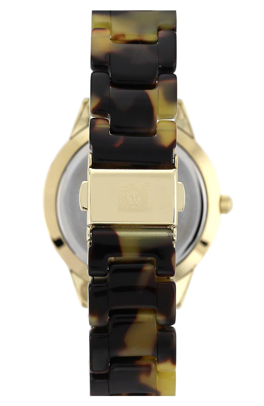 Alternate Image 2  - Anne Klein Crystal Case Bracelet Watch, 35mm
