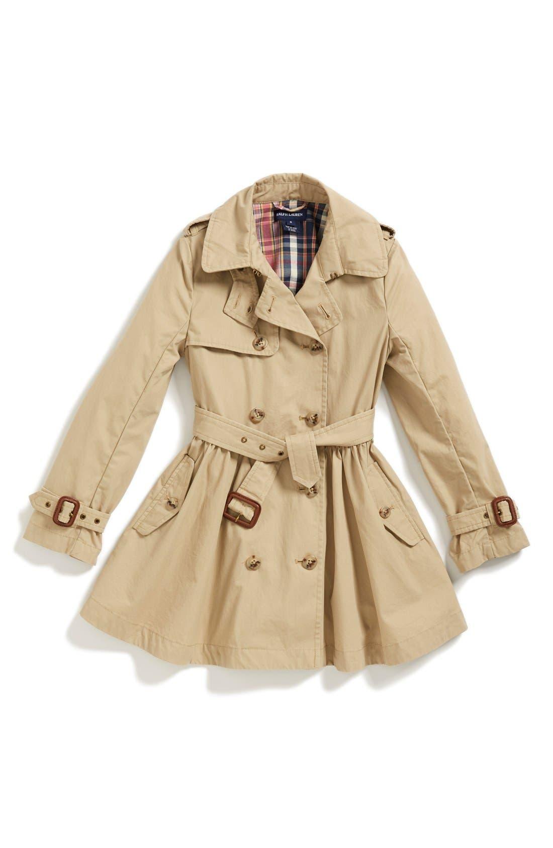 Alternate Image 1 Selected - Ralph Lauren Trench Coat (Little Girls)