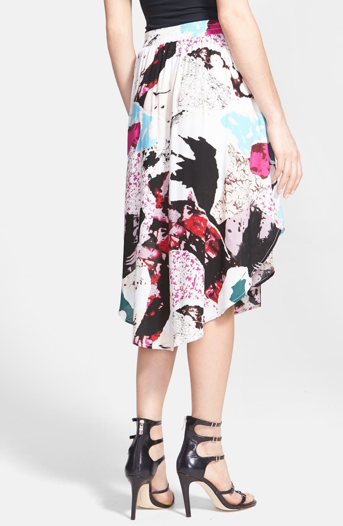 Alternate Image 2  - Tildon 'Shirttail' Floral Print Skirt