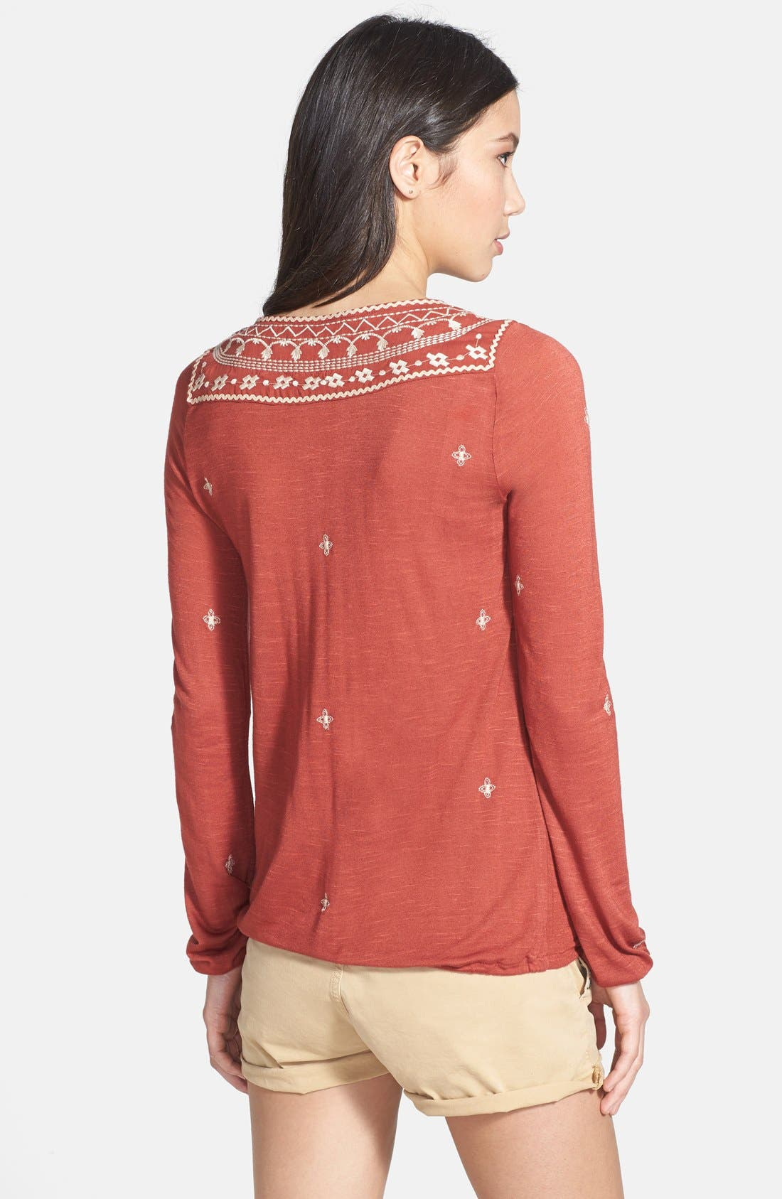 Alternate Image 2  - Lucky Brand 'Winona' Embroidered Top