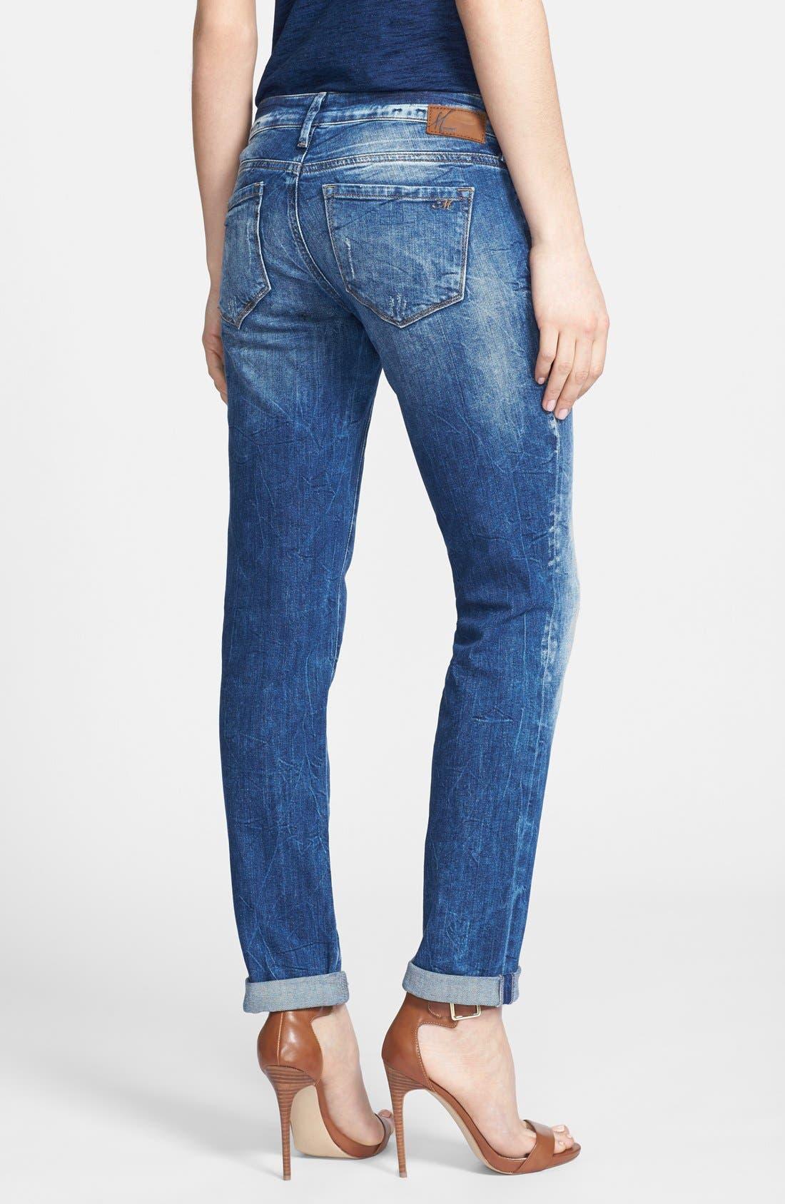 Alternate Image 2  - Mavi Jeans 'Emma' Distressed Slim Fit Boyfriend Jeans (Vintage)