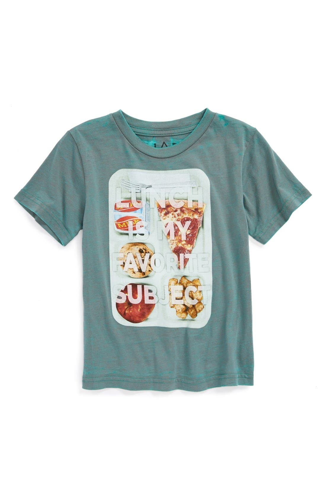 Main Image - Jem 'Lunch Is My Favorite Subject' Graphic T-Shirt (Little Boys)