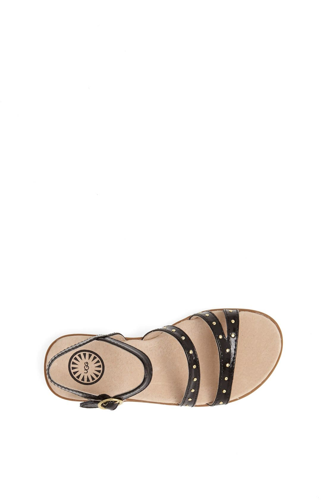 Alternate Image 3  - UGG® Australia 'Krystie' Studded Leather Sandal (Little Kid & Big Kid)