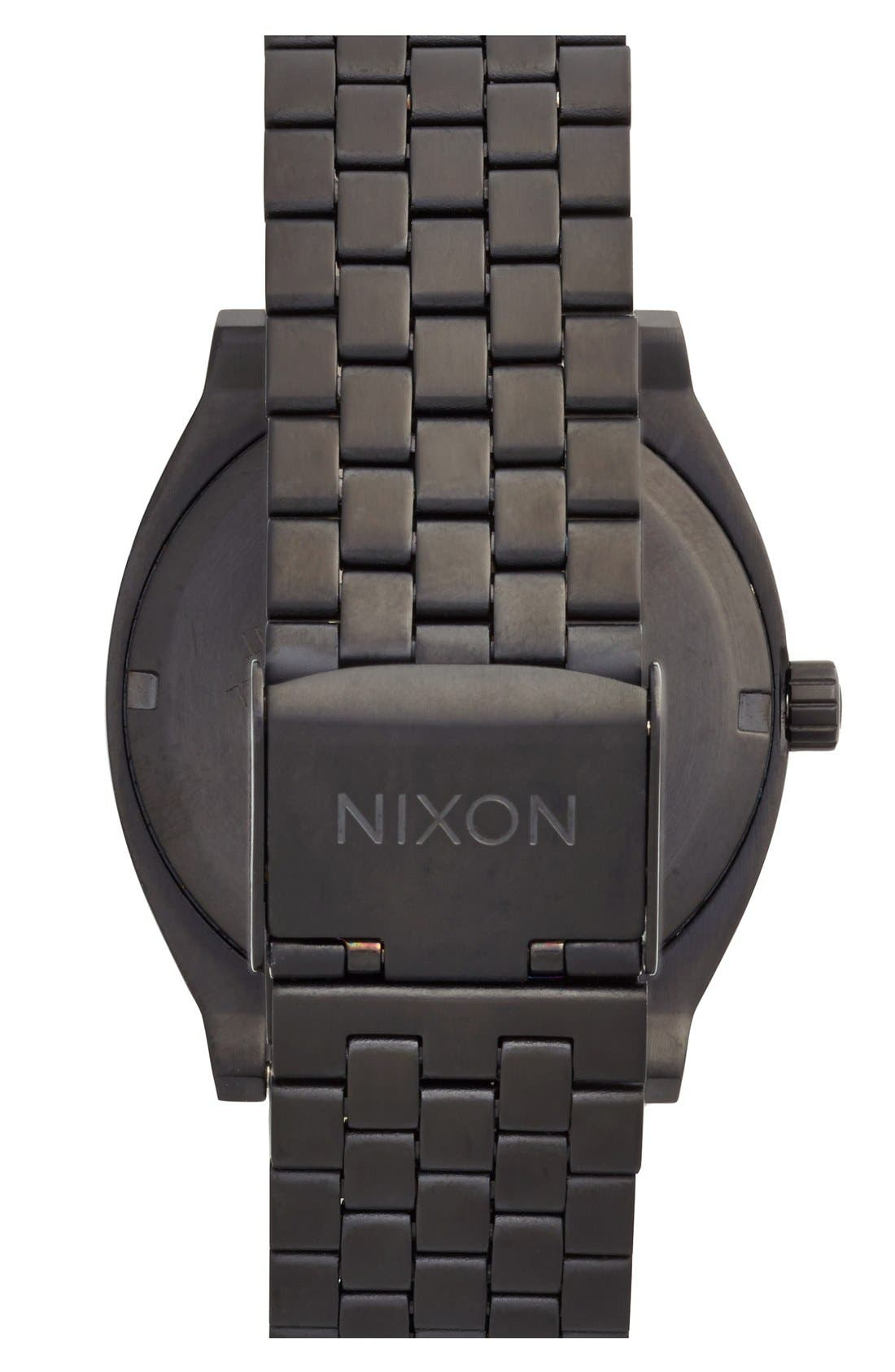 Alternate Image 2  - Nixon 'The Time Teller' Stainless Steel Bracelet Watch, 37mm