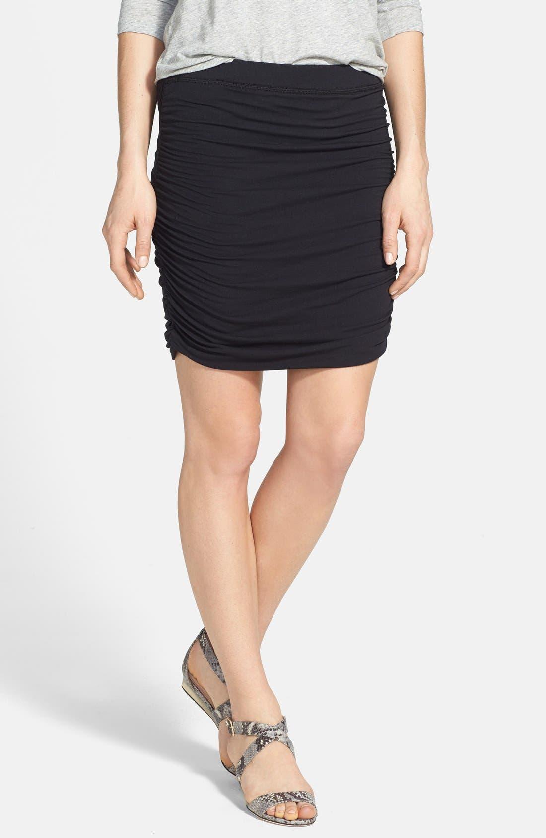 Alternate Image 1 Selected - Splendid Side Ruched Skirt