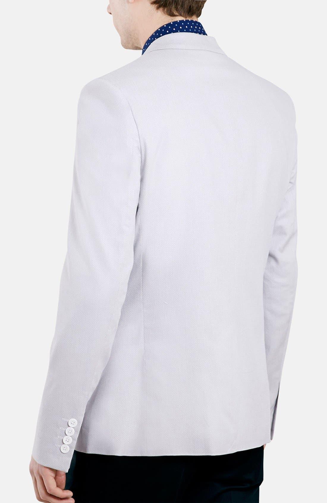 Alternate Image 2  - Topman Skinny Fit Pattern Cotton Blazer
