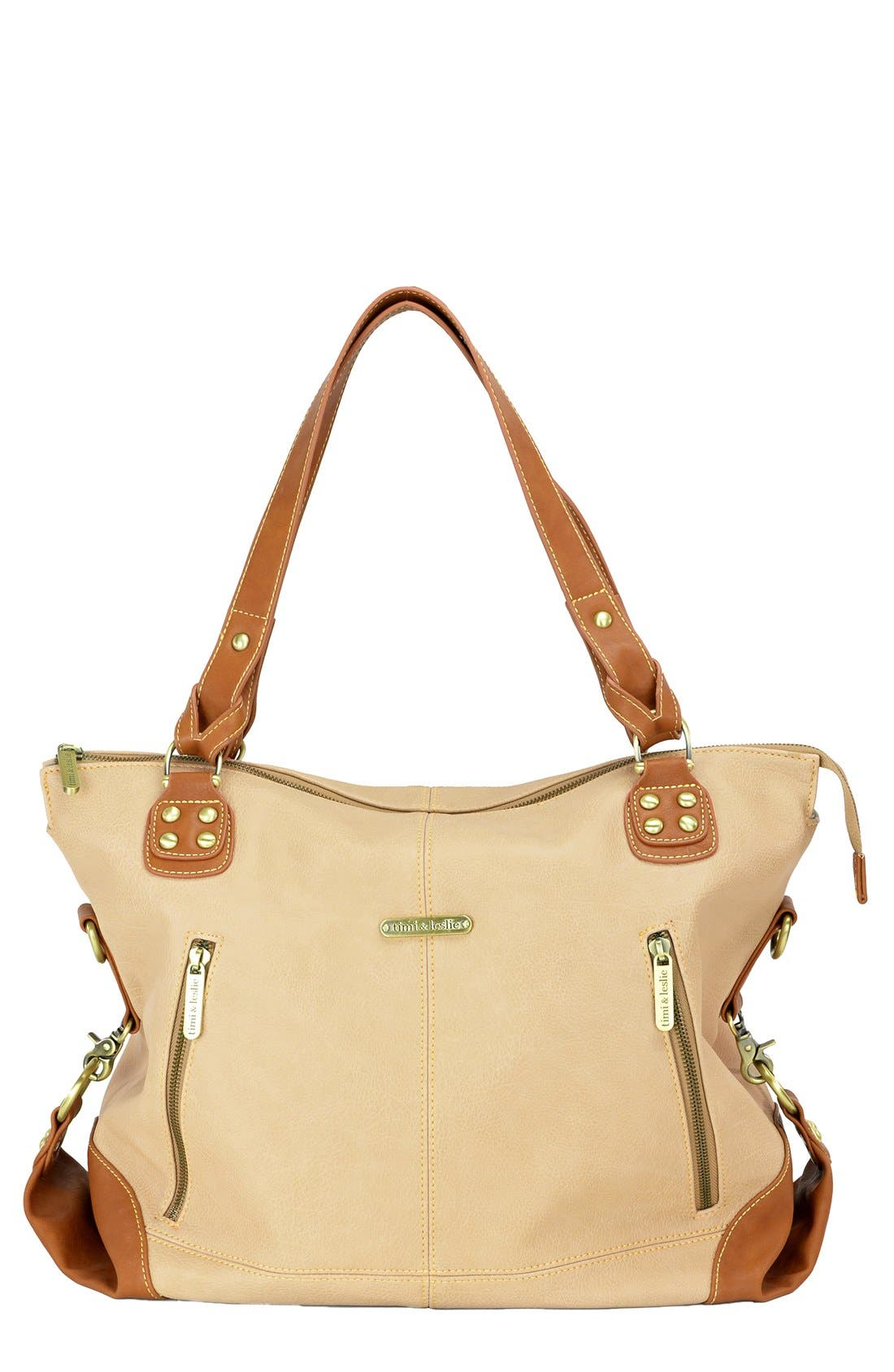 Alternate Image 1 Selected - Timi & Leslie 'Kate' Faux Leather Diaper Bag