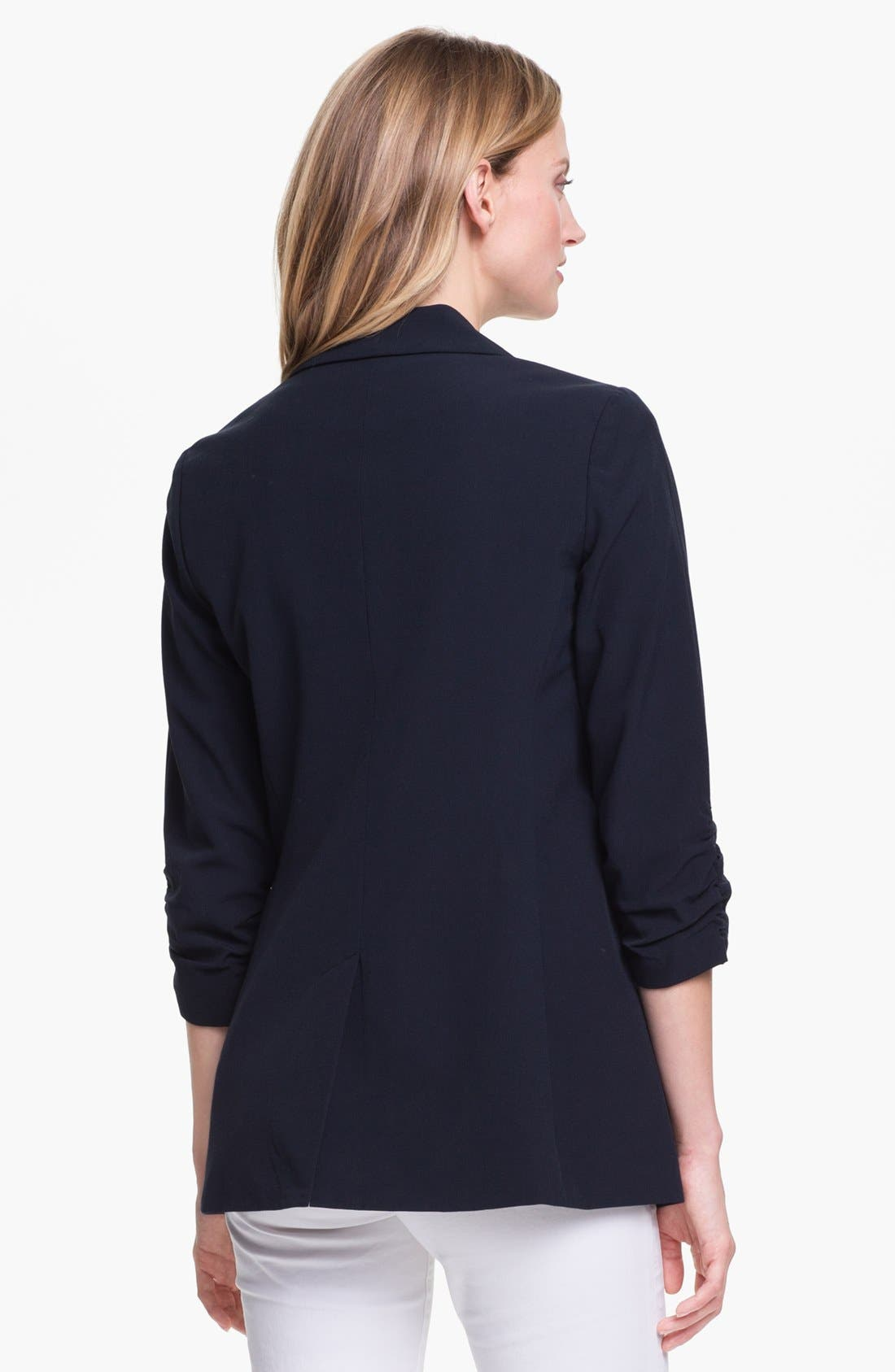 Alternate Image 2  - MICHAEL Michael Kors Ruched Sleeve Boyfriend Jacket (Regular & Petite)