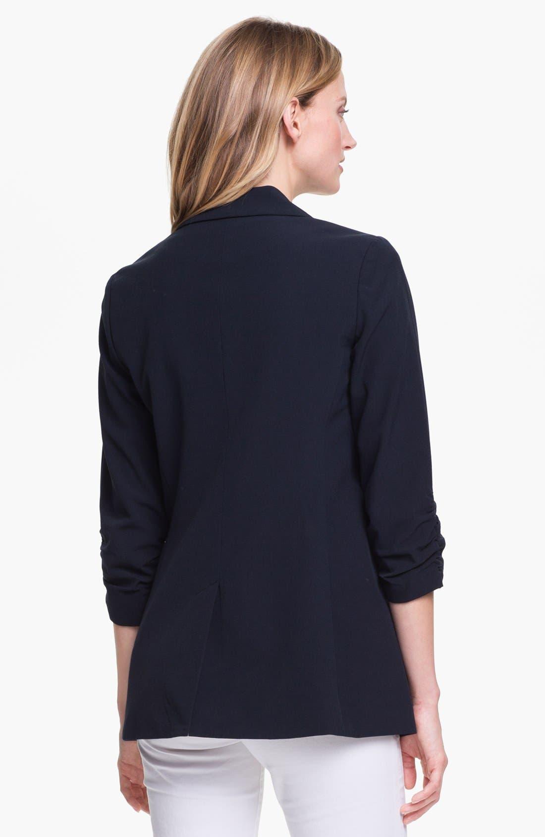 Alternate Image 2  - MICHAEL Michael Kors Ruched Sleeve Boyfriend Jacket (Regular & Petite)