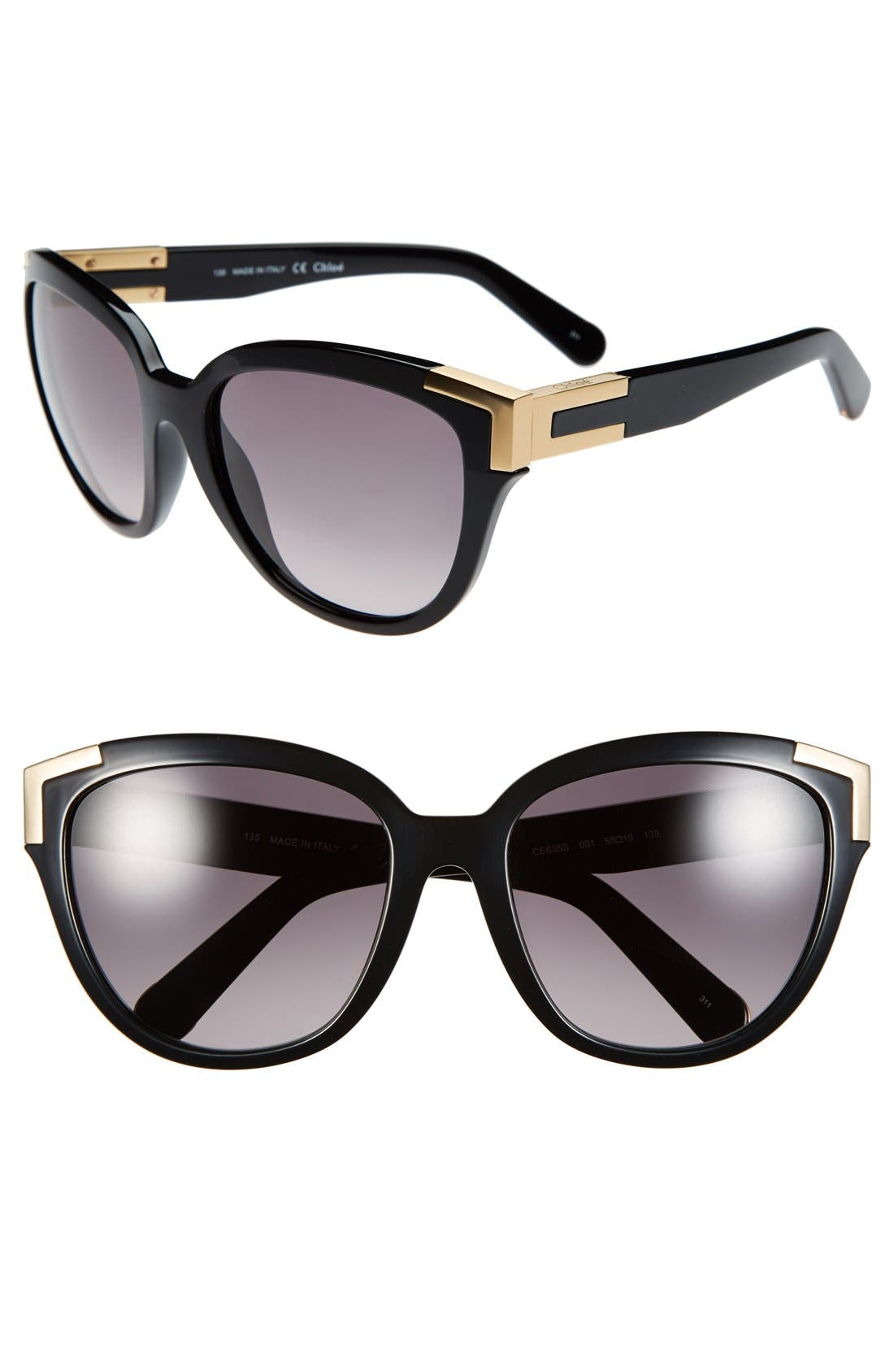 Alternate Image 1 Selected - Chloé 58mm Sunglasses