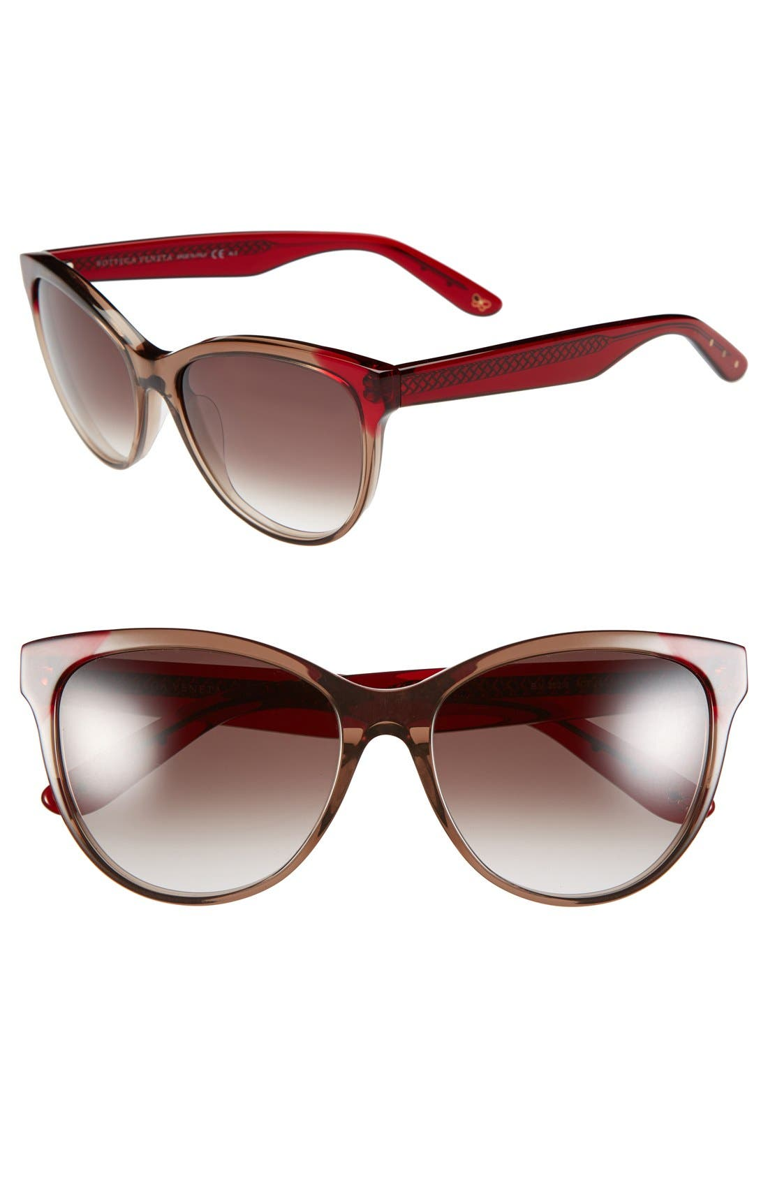 Main Image - Bottega Veneta 56mm Retro Gradient Lens Sunglasses