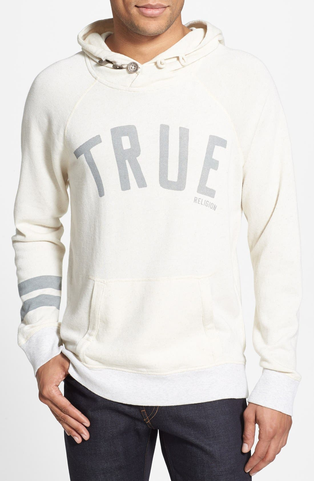 Alternate Image 1 Selected - True Religion Knit Raglan Hoodie