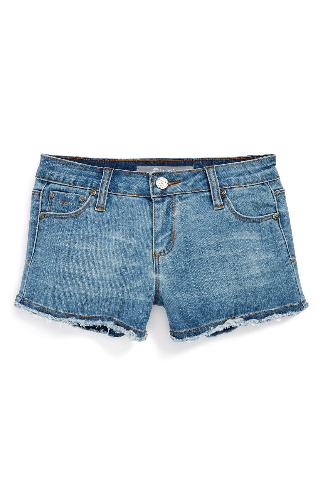 Alternate Image 2  - Tractr Frayed Shorts (Big Girls)