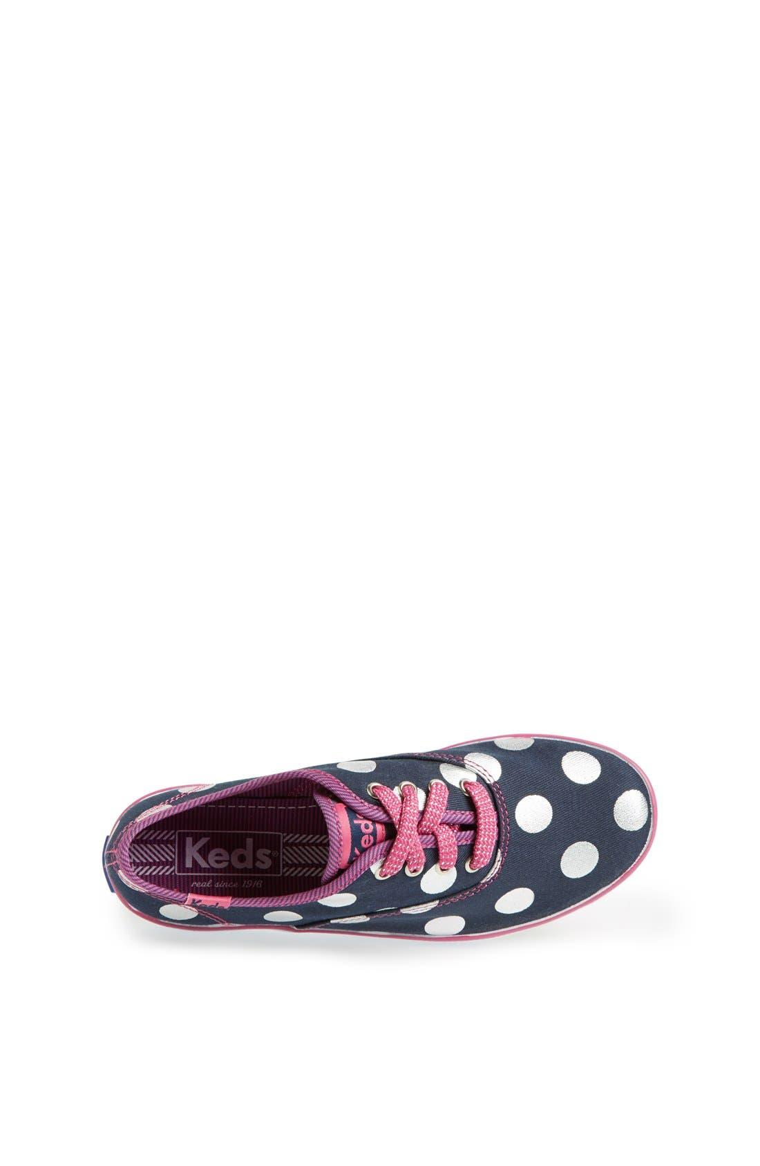Alternate Image 3  - Keds® 'Champion' Polka Dot Sneaker (Walker, Toddler, Little Kid & Big Kid)