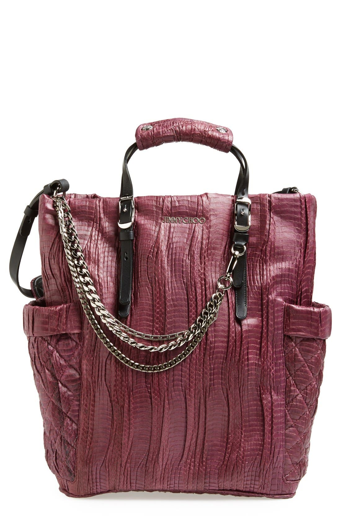 Alternate Image 1 Selected - Jimmy Choo 'Blare' Genuine Snakeskin Tote